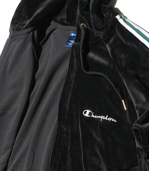 CHAMPION Velor Zip Hood Jacket 2019FW