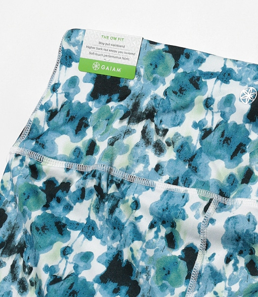 GAIAM Om High-rise Floral Capri Leggings 2019FA