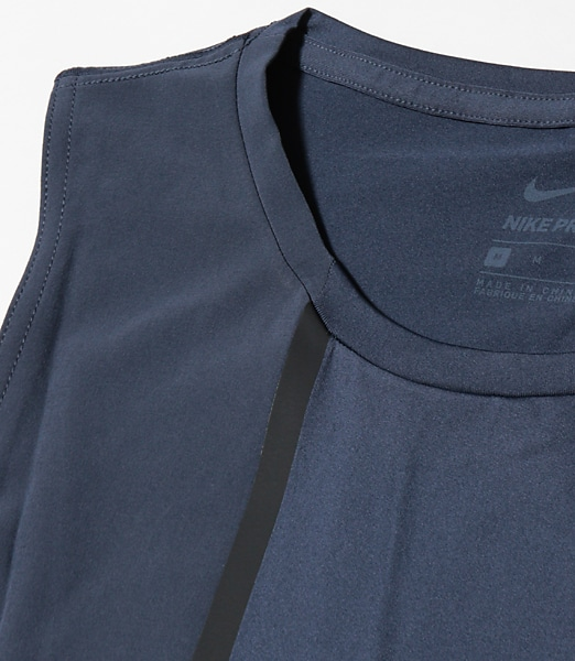 nike px pro fitted tank 2018ss s サンダーブルー 471 mens