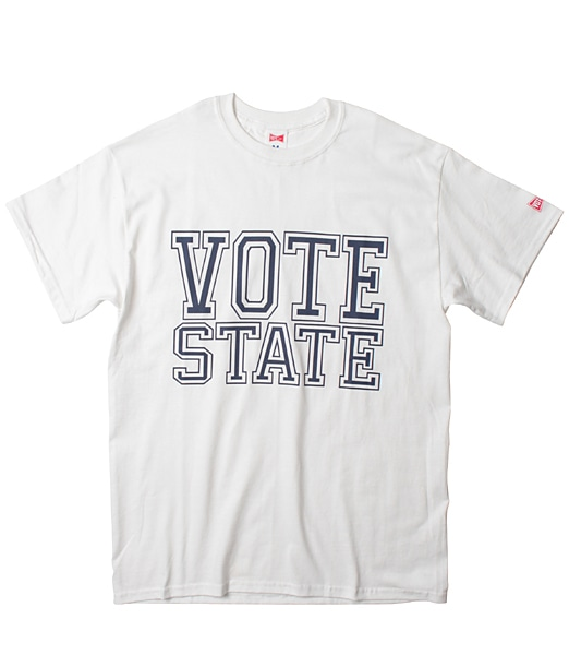 VOTE MAKE NEW CLOTHES Vote State Tee【OSHMAN'S別注】 2018FW