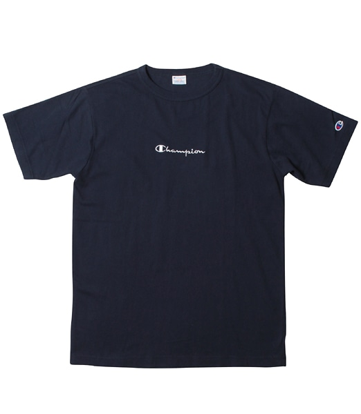 CHAMPION Center Embroidery Script LogoTee 【OSHMAN'S別注】 2019SS