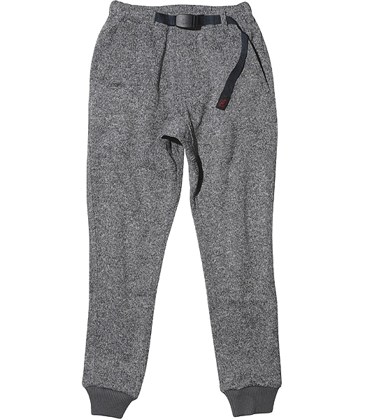 GRAMICCI Bonding Knit Fleece Narrow Rib Pants 2019FW
