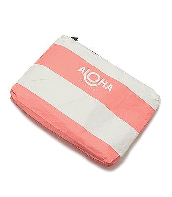 ALOHA COLLECTION Splash-Proof Pouch Wikiki Stripe M 2016SS