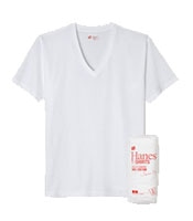 HANES Japan Fit V Neck Pack Tee