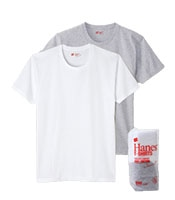 HANES Japan Fit Crew Neck Pack Tee(2Color)