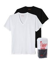 HANES Japan Fit V Neck Pack Tee(2Color)
