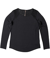 GAIAM Mesh-Accent Scoop Neck L/S Top 2018FW